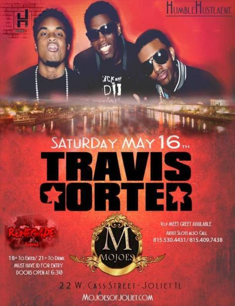 Ebonie Camille Host Travis Porter at Mojoes